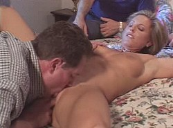 Brunette MILF in stockings getting pounded